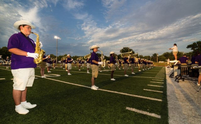 Marching-on-Football-Field