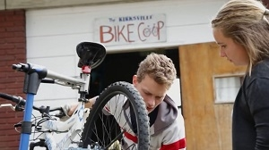 Learn how to fix your bike under the guidance of a trained mechanic at the Bike Coop on the Truman campus.