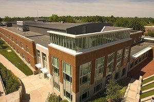 Magruder Hall is the primary center for the study of science at Truman. This modern facility has classrooms, research labs and prep rooms, a greenhouse, a solar garden, and a planetarium.
