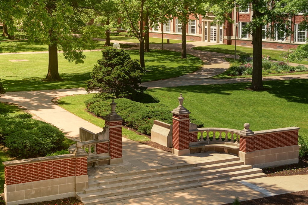 Campus gate on north end of Quad